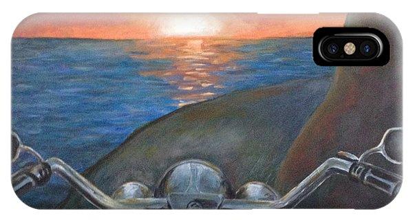Samantha iPhone Case - Motorcycle Sunset by Samantha Geernaert
