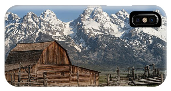 Teton iPhone Case - Moulton Barn - Grand Tetons I by Sandra Bronstein