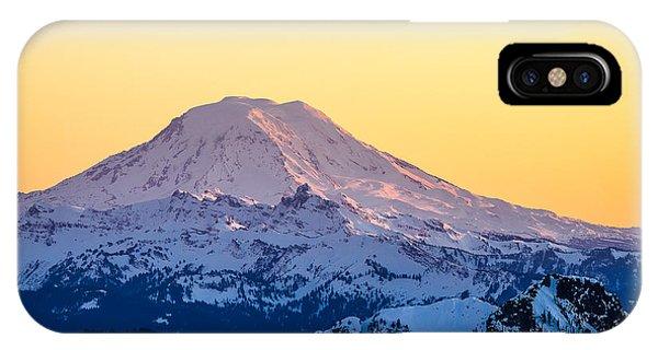 Mount Adams Sunset IPhone Case