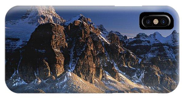 Mount Assiniboine And Sunburst Peak At Sunset IPhone Case