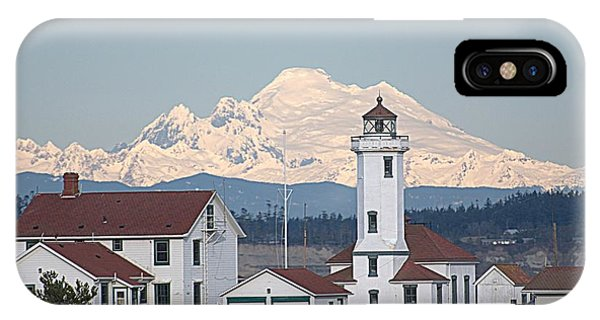 Mount Baker And Point Wilson Light Station IPhone Case