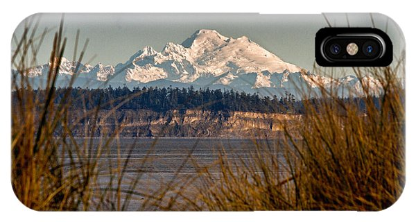 Mount Baker From Port Townsend IPhone Case