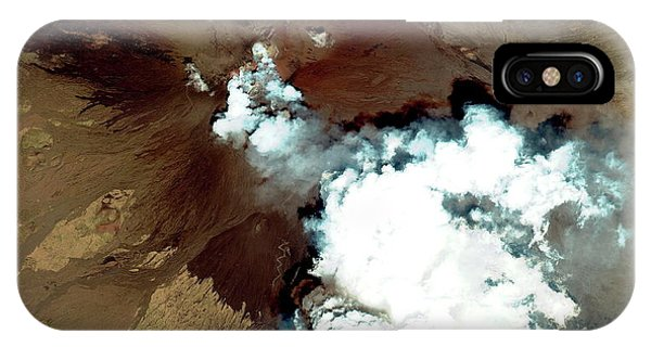 Etna iPhone Case - Mount Etna Erupting by Geoeye/science Photo Library