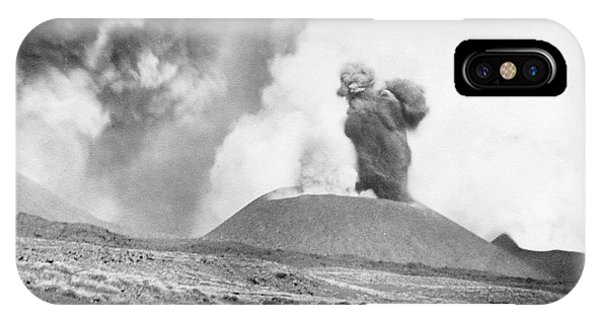 Plumes iPhone Case - Mount Etna Eruption by Library Of Congress