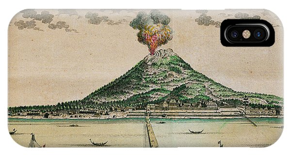 Mount Gamalama Volcano Erupting Phone Case by George Bernard/science Photo Library