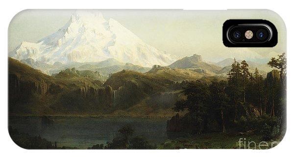 Greenery iPhone Case - Mount Hood In Oregon by Albert Bierstadt