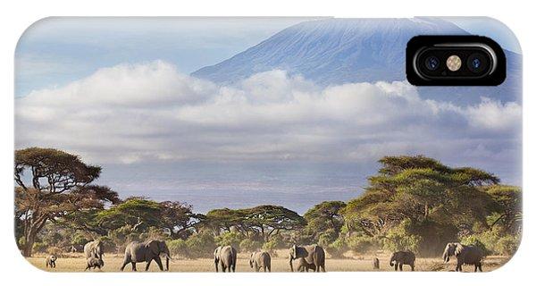 East Africa iPhone Case - Mount Kilimanjaro Amboseli  by Richard Garvey-Williams