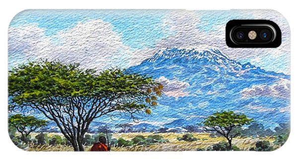Mount Kilimanjaro IPhone Case