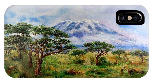 Mount Kilimanjaro Tanzania IPhone Case