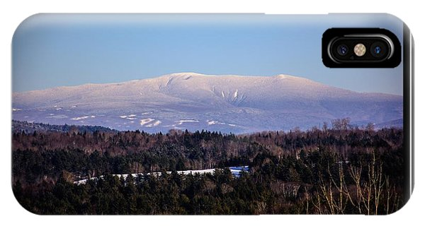 Mount Moosilauke Snowy Blanket IPhone Case