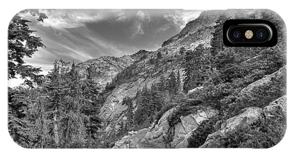 Mount Pilchuck Black And White IPhone Case