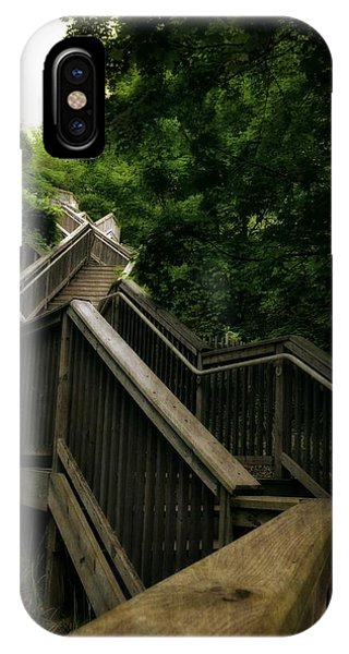 Michelle iPhone Case - Mount Pisgah Stairs by Michelle Calkins