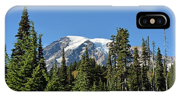 Mount Rainier Evergreens IPhone Case
