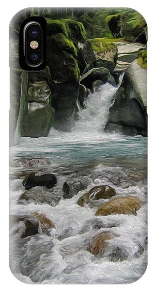 Mount Rainier Falls IPhone Case