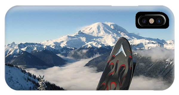 Mount Rainier Has Skis IPhone Case