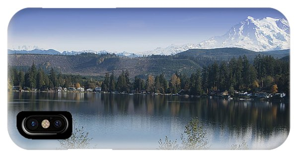 Mount Rainier In The Fall IPhone Case