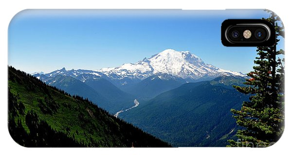 Mount Rainier Seen From Crystal Mountain Summit  4 IPhone Case