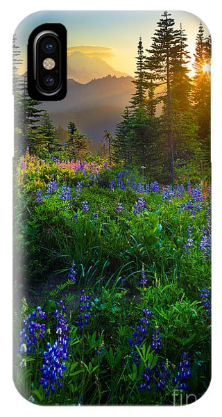 United States iPhone Case - Mount Rainier Sunburst by Inge Johnsson