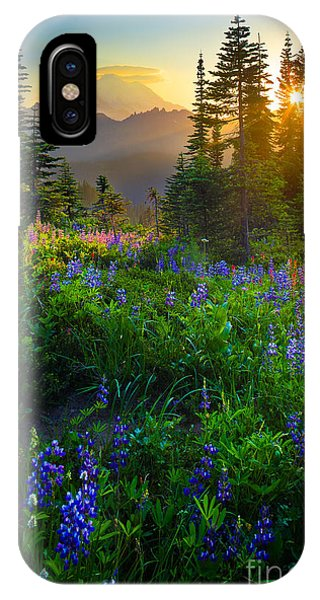 Bloom iPhone Case - Mount Rainier Sunburst by Inge Johnsson