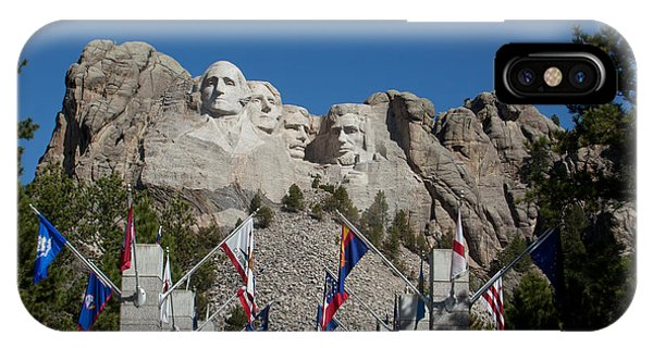 Mount Rushmore Avenue Of Flags IPhone Case