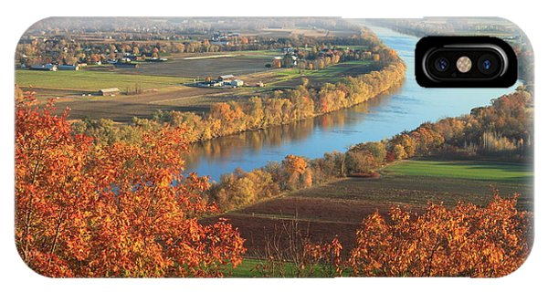 Mount Sugarloaf Connecticut River Autumn IPhone Case
