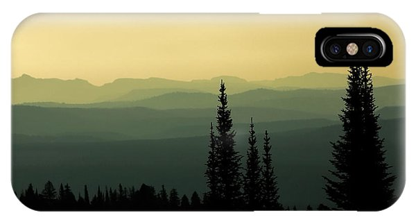 Yellowstone National Park iPhone Case - Mount Washburn Mist by Todd Klassy