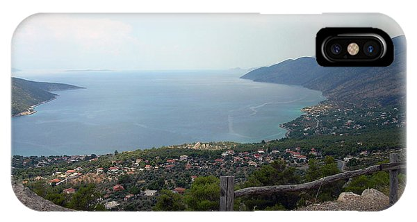 Mountain And Sea View In Greece IPhone Case