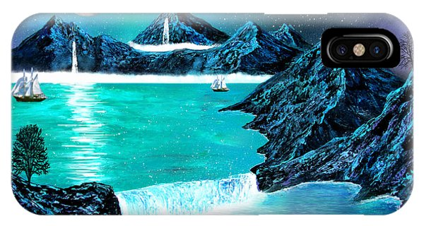 Mountain Bay Phone Case by Michael Rucker