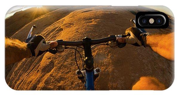 Slickrock iPhone Case - Mountain Biking In Moab, Utah by Whit Richardson