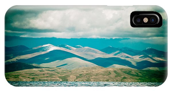 Mountain Lake In Tibet Manasarovar IPhone Case