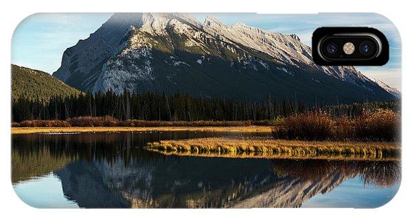 Rocky Mountain Np iPhone Case - Mountain Lake Reflecting Mountain by Michael Interisano