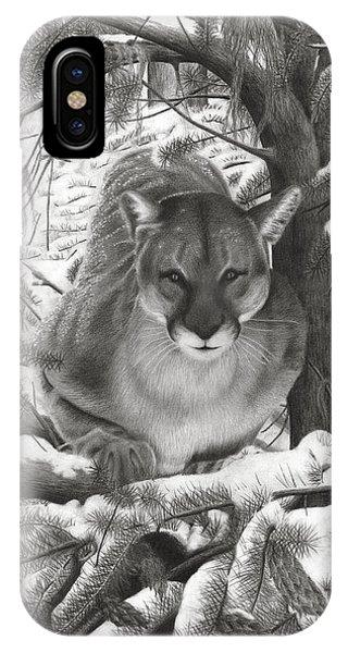 Mountain Lion Hideout IPhone Case