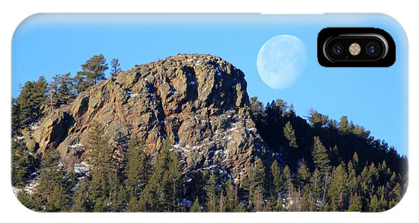 Mountain Moonset IPhone Case