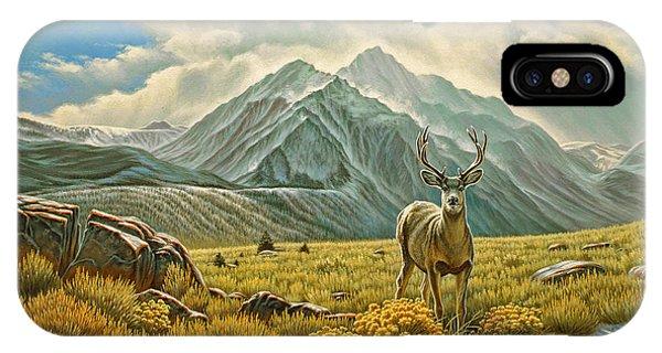 Mule Deer iPhone Case - Mountain Muley by Paul Krapf