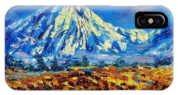 Mountain Painting Fine Art By Ekaterina Chernova IPhone Case