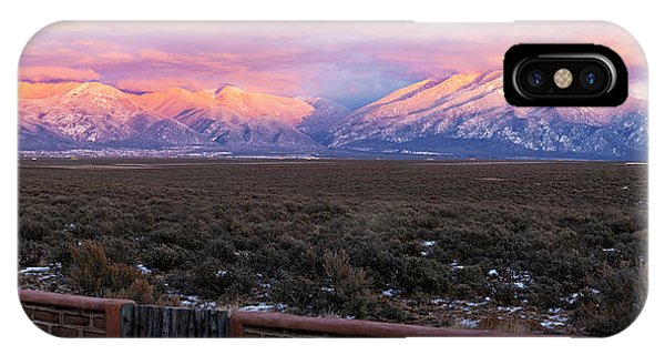 Sangre De Cristo iPhone Case - Mountain Range Viewed From A Adobe by Panoramic Images