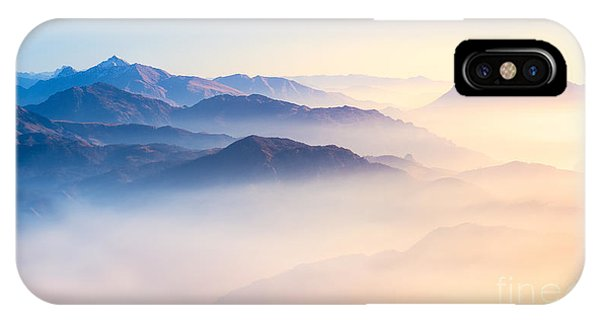 Magic iPhone Case - Mountain Range With Visible Silhouettes by Easy Camera