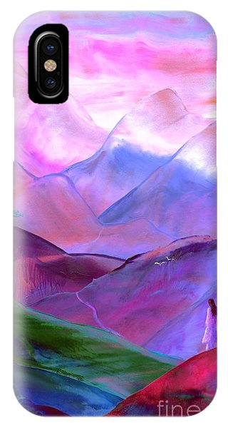 Heather iPhone Case - Mountain Reverence by Jane Small