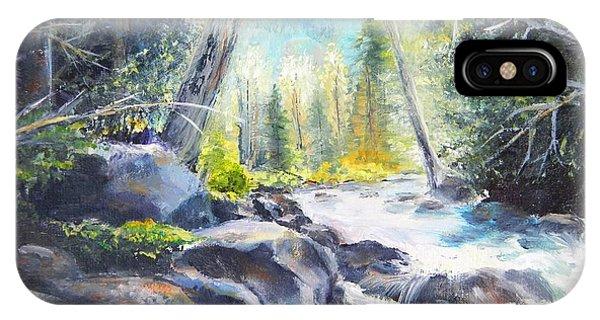 Mountain River Glow IPhone Case