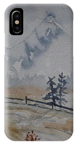 Mountain Snow Phone Case by Catherine Arcolio