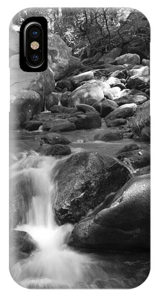 Mountain Stream Monochrome IPhone Case
