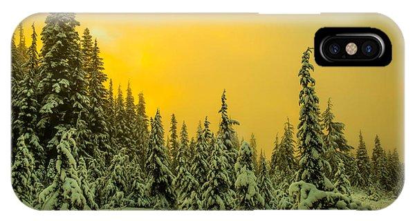 Treeline iPhone Case - Mountain Sunrise by Ryan McGinnis