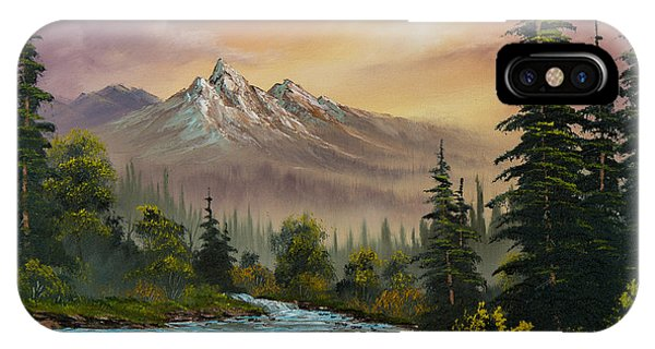 Wet iPhone Case - Mountain Sunset by Chris Steele