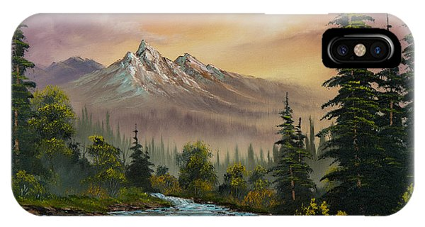 Oil iPhone Case - Mountain Sunset by Chris Steele