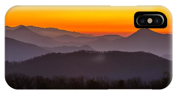 Mountain Sunset In Tennessee IPhone Case