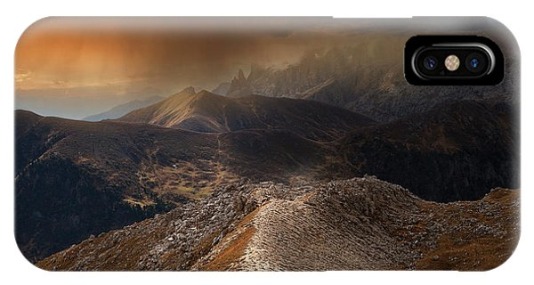 Weathered iPhone Case - Mountain Weather by Nicolas Schumacher