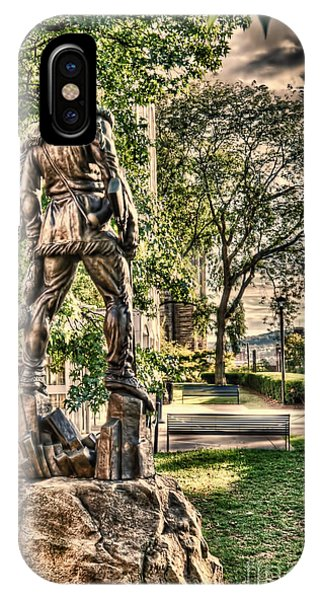 Mountaineer Statue At Lair IPhone Case