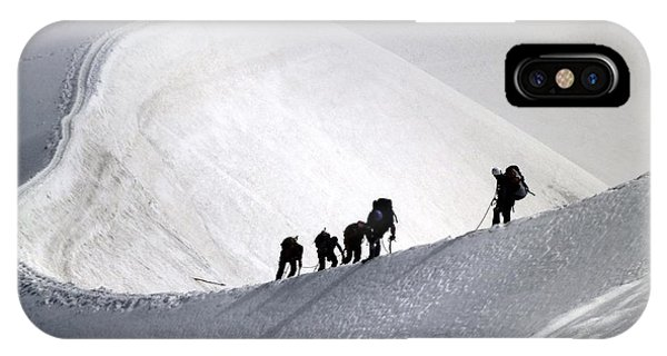 Mountaineers To Conquer Mont Blanc IPhone Case