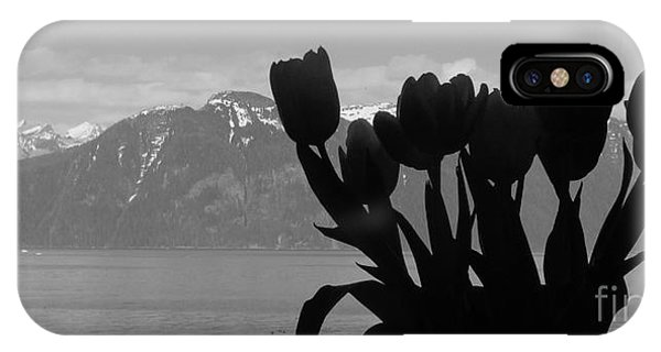 Mountains And Tulips IPhone Case