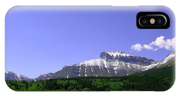 Mountains Crowsnest Phone Case by Mavis Reid Nugent